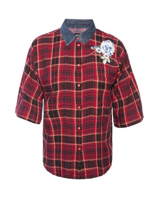 DIESEL - Red Checked Shirt - Lyst
