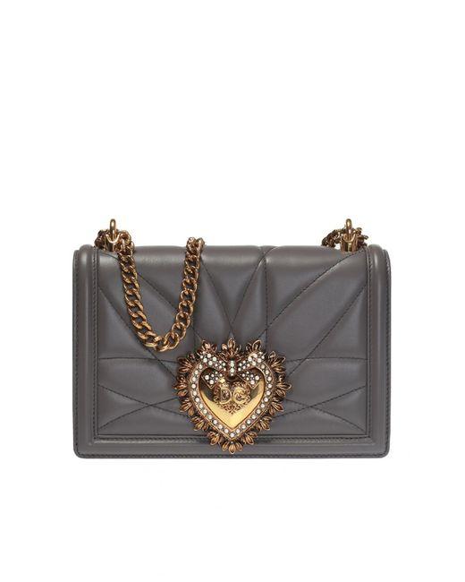3da3836f7721 Dolce   Gabbana Devotion Shoulder Bag in Gray - Save 4% - Lyst