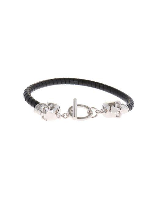 Alexander McQueen - Black Leather Bracelet for Men - Lyst