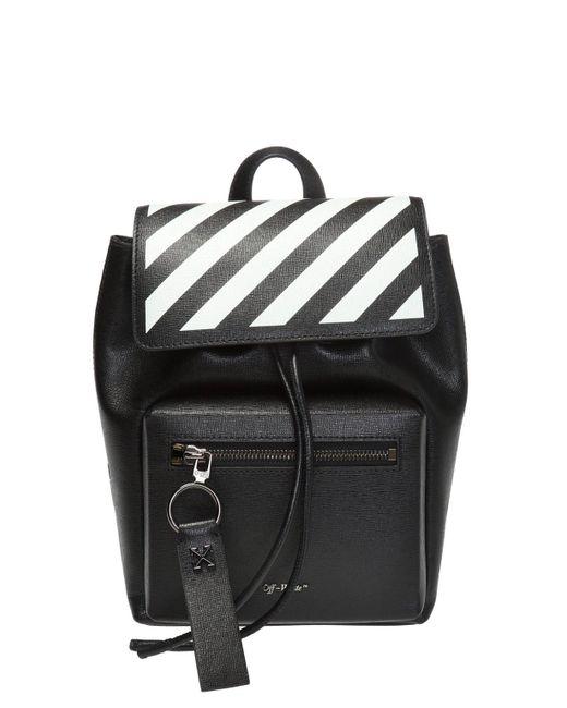 Off-White c/o Virgil Abloh Black Diagonal-stripe Backpack