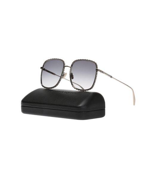 6db53107152 ... Alexander McQueen - Metallic Sunglasses With Swarovski Crystals - Lyst  ...