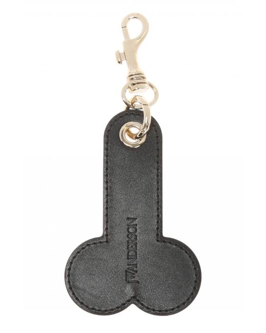 J.W. Anderson - Black Logo-embossed Key Ring - Lyst