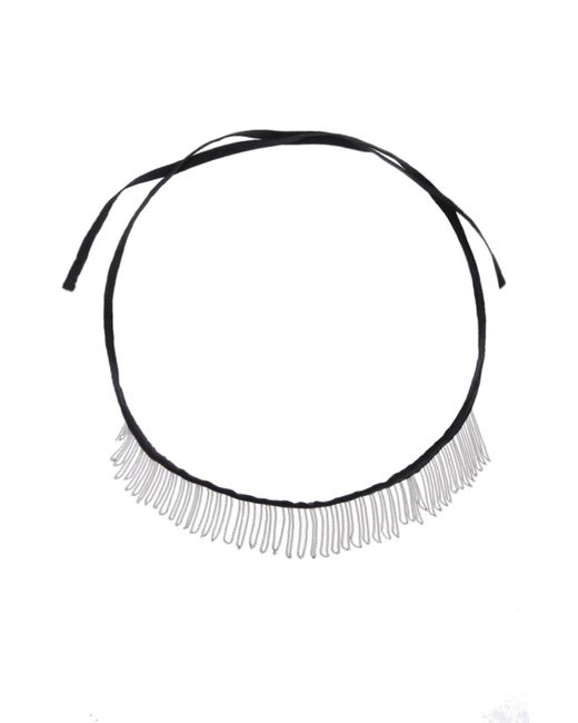 Ann Demeulemeester - Black Chain Trim Necklace - Lyst