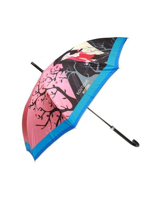 Moschino - Pink Printed Umbrella - Lyst