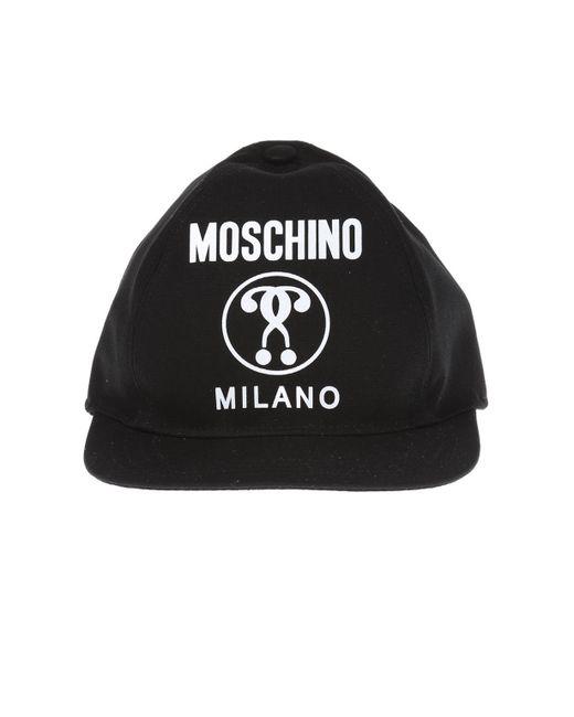 179b706d233 Moschino - Black Baseball Cap for Men - Lyst ...