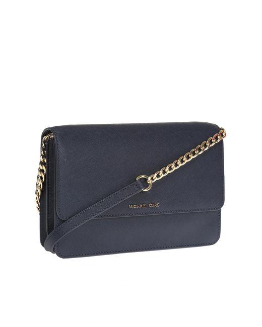 599b6a7d7a52 ... Lyst Michael Kors - Blue  daniela  Shoulder Bag ...