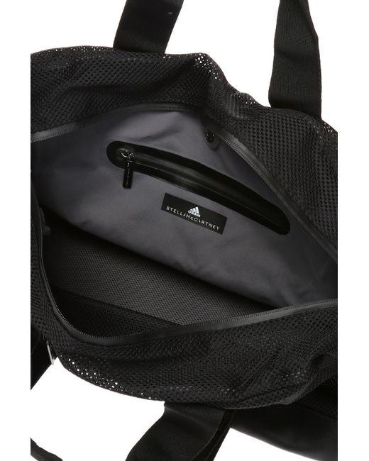 ... Adidas By Stella McCartney - Black Sports Bag With A Logo - Lyst ... 20cb7640e1ecb