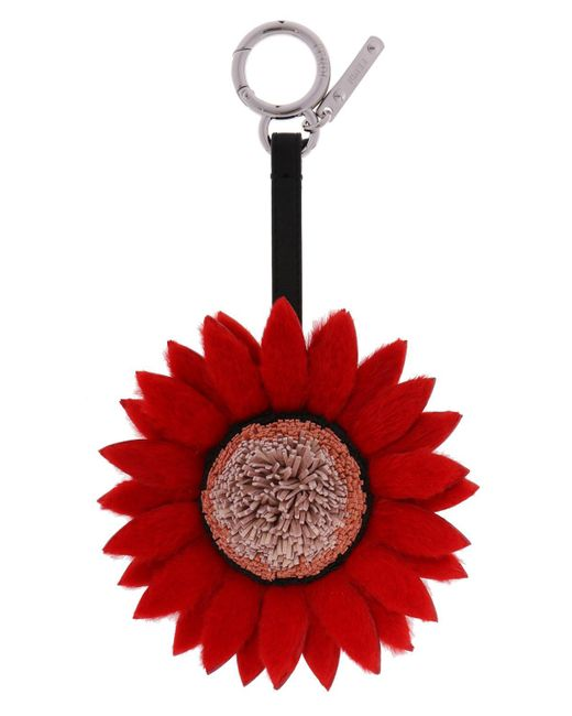 Fendi - Red Flower-shaped Key Ring - Lyst
