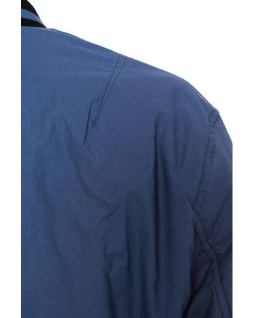 ca6535f03 Lyst - Ferragamo Reversible Bomber Jacket in Blue for Men
