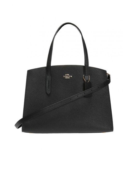 COACH - Black 'charlie Carryall' Shoulder Bag - Lyst