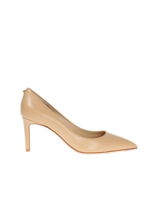 Ferragamo - Natural Leather Pumps - Lyst