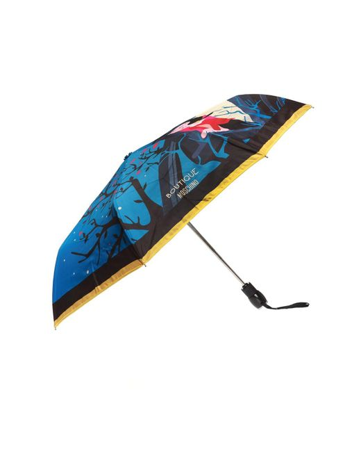 Moschino - Blue Printed Umbrella - Lyst