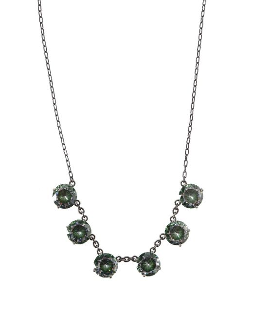 Bottega Veneta - Metallic Cubic Zirconia Necklace - Lyst