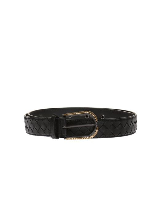 Bottega Veneta - Black Leather Belt - Lyst