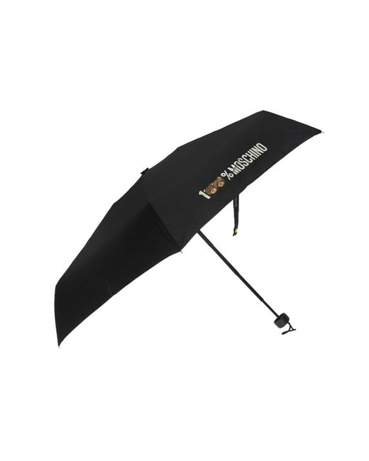 Moschino - Black Umbrella With A Print - Lyst