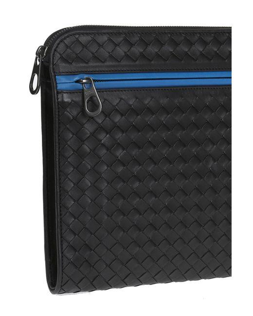 1a6d88e2d3c9 ... Bottega Veneta - Black Leather Briefcase for Men - Lyst