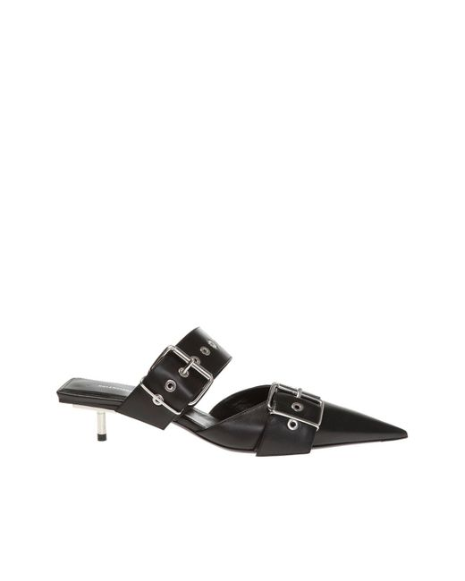 Balenciaga Black Pointed Toe Mules