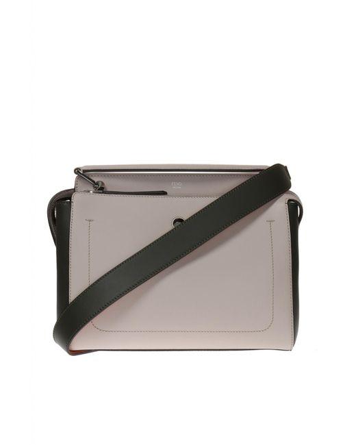 Fendi - Gray 'dotcom' Shoulder Bag - Lyst