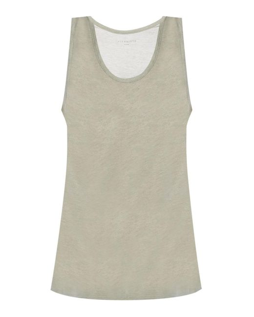 AllSaints - Gray 'malina' Top With Straps - Lyst
