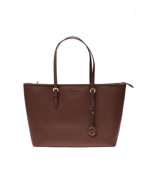 Michael Kors - Brown  jet Set Travel  Shopper Bag - Lyst ... 960709dff1