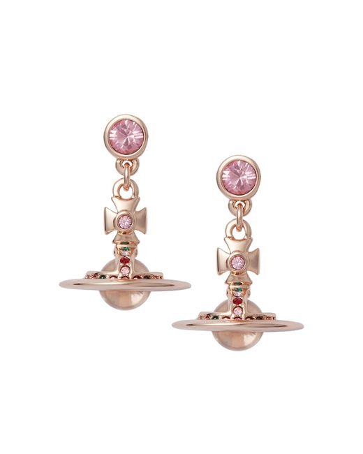 Vivienne Westwood | Pink Light Rose New Petite Orb Earrings | Lyst