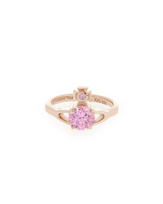 Vivienne Westwood | Sterling Silver Reina Petite Ring Pink Gold | Lyst