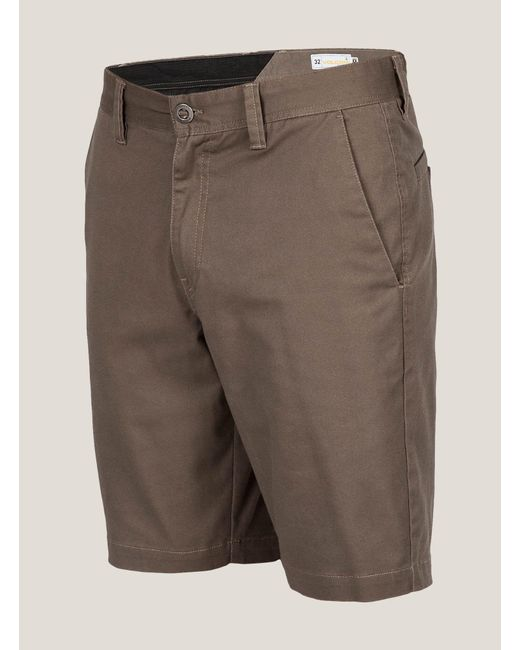 Volcom | Brown Men's Frickin Mod Stretch Shorts for Men | Lyst