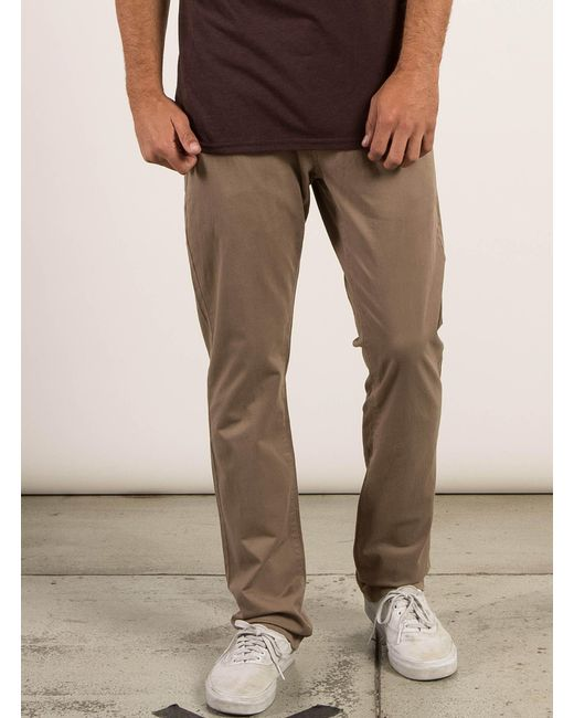 Volcom | Natural Frickin Slim Chino Pants for Men | Lyst