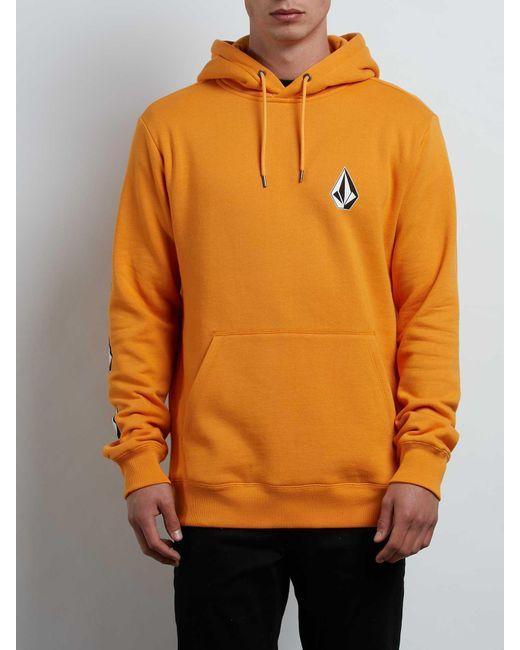 Volcom - Orange Supply Stone Pullover Hoodie for Men - Lyst