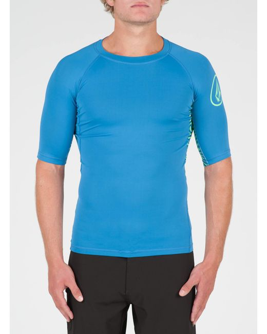 Volcom - Blue Vibes Short Sleeve Rashguard - Black - L for Men - Lyst
