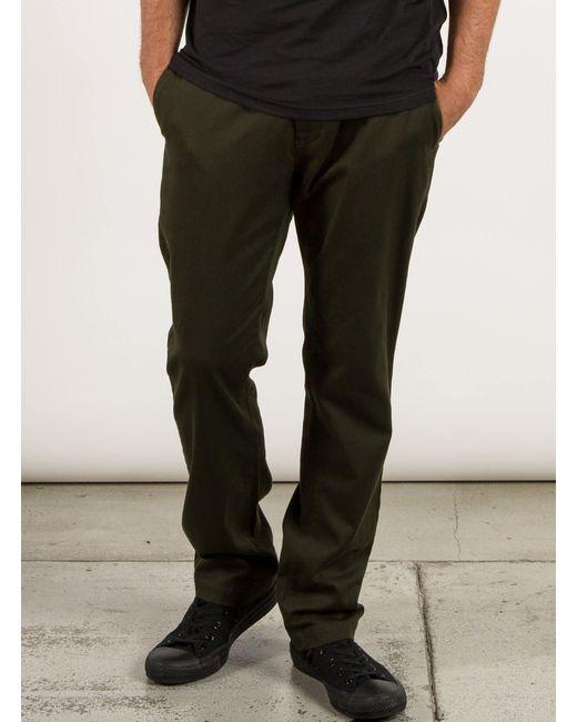 Volcom   Green Frickin Modern Stretch Chino Pants for Men   Lyst