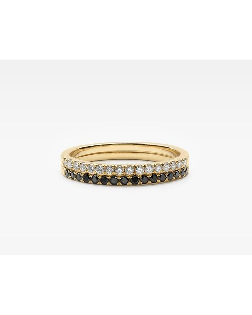 Vrai & Oro   Metallic Petite Diamond Band Pair   Lyst
