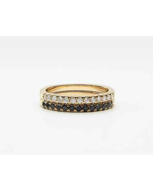 Vrai & Oro | Metallic Large Diamond Band Pair | Lyst