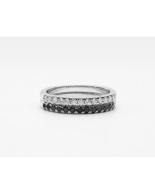 Vrai & Oro | Metallic Large Diamond Band Pair | Lyst