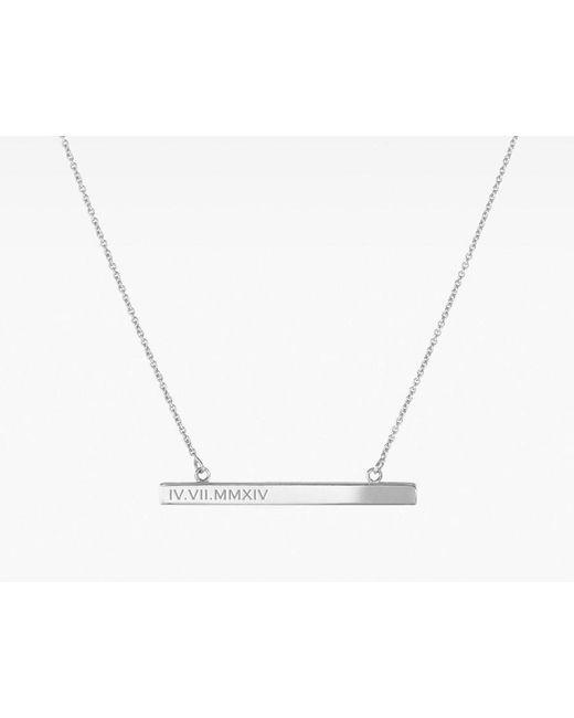 Vrai & Oro | Metallic Bar Necklace | Lyst