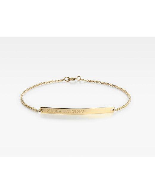 Vrai & Oro | Metallic Bar Bracelet | Lyst