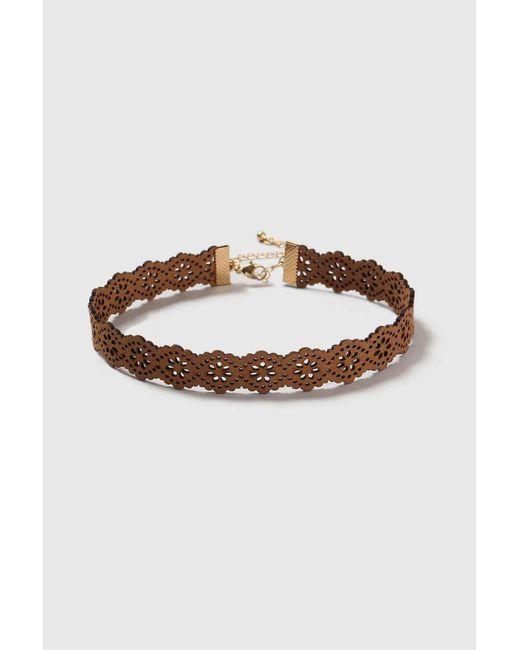 Wallis | Brown Fabric Choker Necklace | Lyst