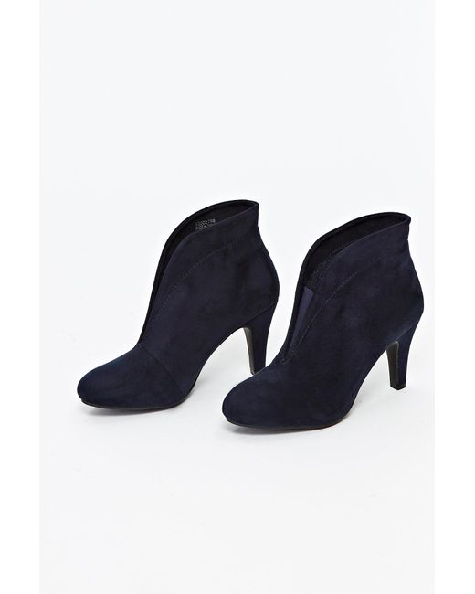 89c3e12356fe9 ... Wallis - Blue Navy Heeled Ankle Boot - Lyst ...