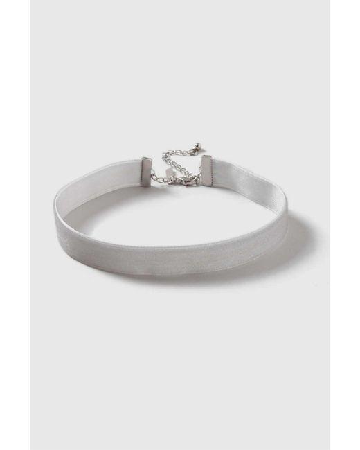 Wallis | Gray Skinny Grey Velvet Choker Necklace | Lyst