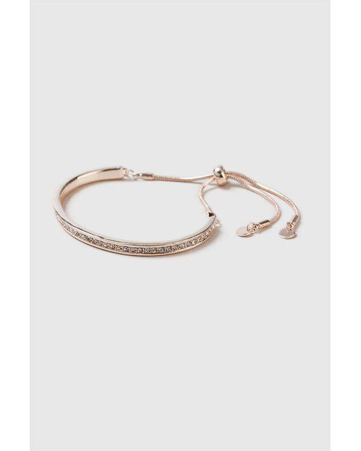 Wallis - Metallic Rose Gold Toggle Bracelet - Lyst