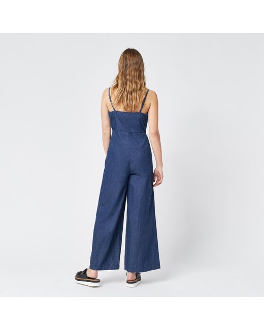 Warehouse | Blue Strappy Jumpsuit | Lyst