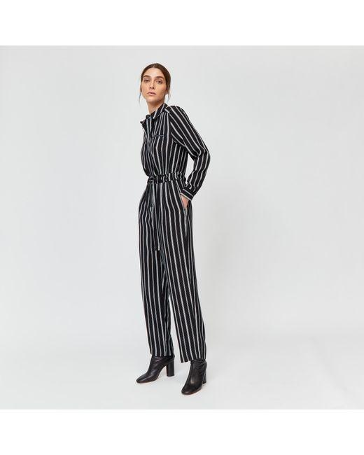 bb1b16560462 Warehouse - Black Vertical Stripe Boilersuit - Lyst ...