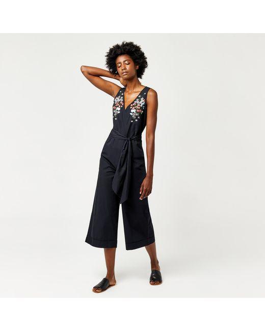 Warehouse | Blue Freida Embroidered Jumpsuit | Lyst