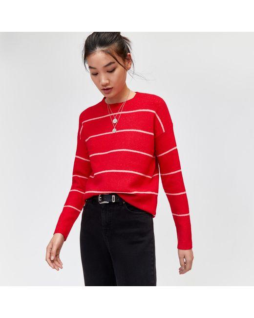 Warehouse - Red Fine Stripe Cosy Jumper - Lyst