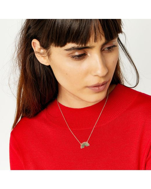 Warehouse | Metallic Rainbow Necklace | Lyst