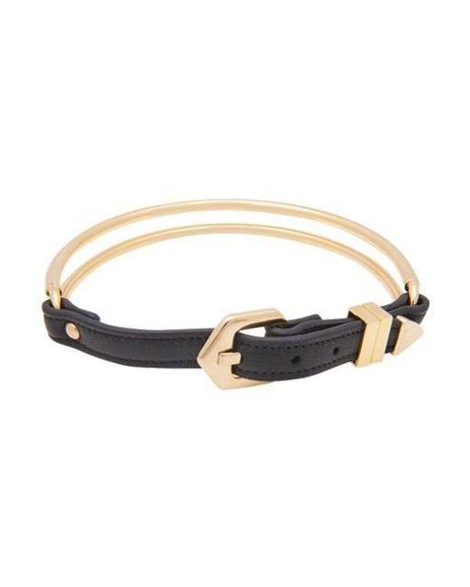 VIOLLINA - Metallic Gold Wire Leather Choker - Lyst