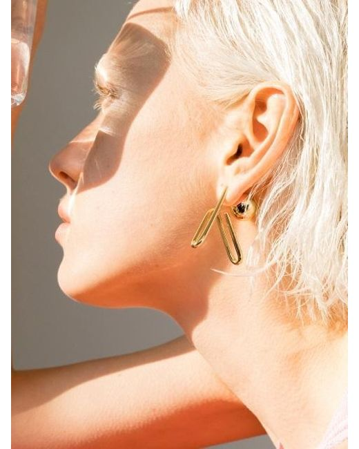 VIOLLINA - Metallic Hanguel Alphabet Single Earring-4 Gold - Lyst