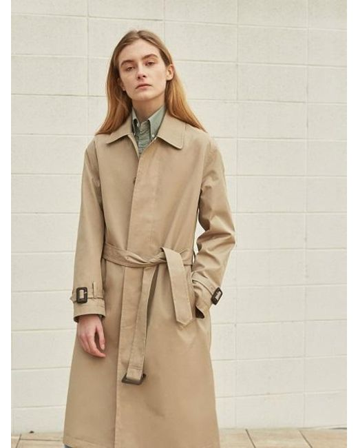 W Concept - Natural Gaber Mac Coat - Lyst
