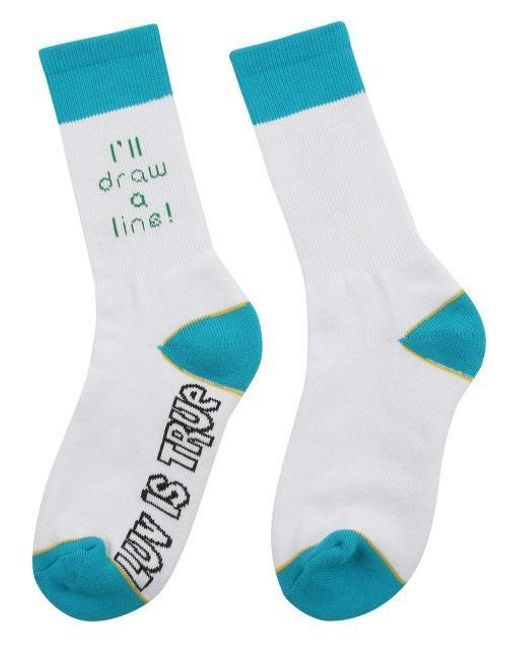 W Concept | [unisex] Sd Line Socks White for Men | Lyst