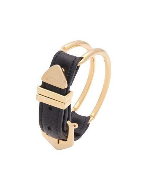 VIOLLINA - Metallic Gold Wire Leather Bracelet - Lyst